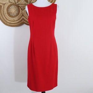 Escada silk, cashmere & wool red sleeveless sheath